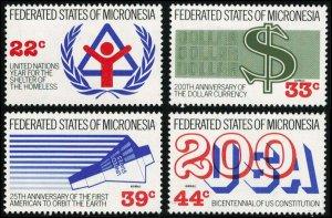 Micronesia Scott 56, C28-C30 Mint never hinged.