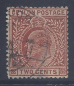 CEYLON -Scott 178-KEVII  - Definitive- 1904- Wmk 3- Used -Single 2c Stamp1