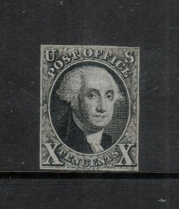 USA #2 Mint Fine Original Gum Hinged Pressed Creases **With Certificate**