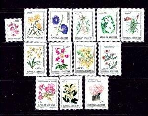 Argentina 1515-27 MNH 1985-88 Flowers complete set