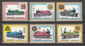 Ajman, Mi cat. 1850-1855 A. Locomotives issue. ^