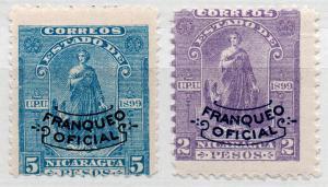 (I.B) Nicaragua Postal : Official Overprints