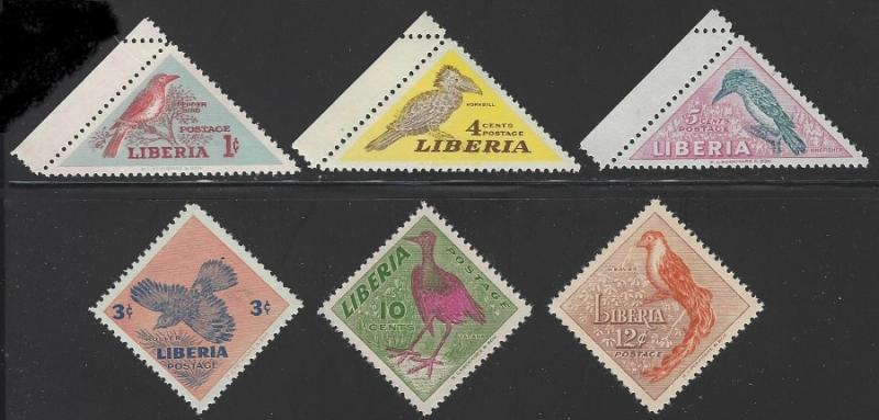 Liberia #341-346 MNH Set of 6 Birds