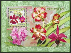 Mozambique MNH S/S Colorful Orchids