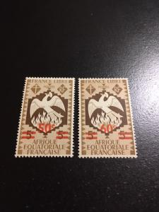 French Equatorial Africa sc 158-159 MHR