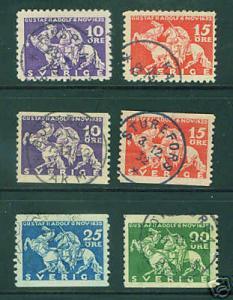 SWEDEN  Scott 230-5 Used 1932 complete used set CV $11