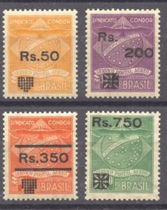 Brazil 1930 Airmail Syndicato Condor Overprint Set MNH, superb