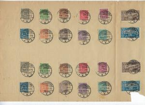 Schleswig - Scott # 1 - 14, used, on sheet of paper, two cpl. sets