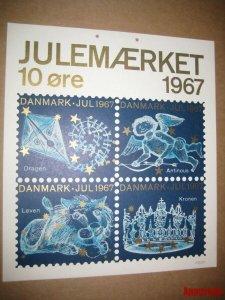 Denmark. 1 Post Office,Display,Advertising Sign. Stars. Christmas Seal 1967.