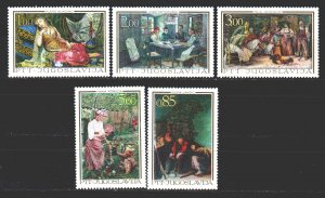 Yugoslavia. 1967. 1257a-61a. Works of art. MNH.