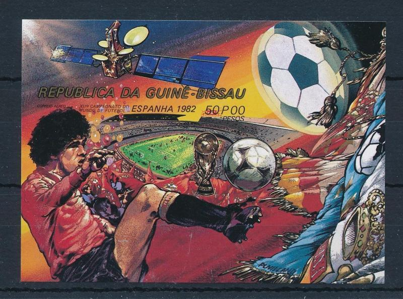 [60482] Guinea Bissau 1982 World Cup Soccer Stadium Imperforated MNH Sheet