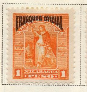 Nicaragua 1894 Early Issue Fine Mint Hinged 1P. Official Optd 323733