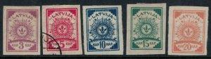 Latvia #25-9*/u  CV $1.25 mostly mint