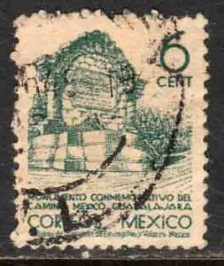 MEXICO 789 6¢ 1934 Definitive Wmk S.H.C.P. USED. F-VF. (1011)