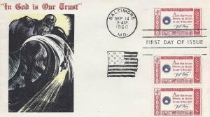 1142 4c FRANCIS SCOTT KEY CREDO - Overseas Mailers