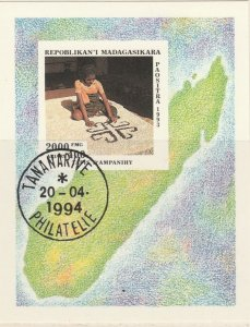 Malagasy Republic 1994 Handicrafts Mi. Block 255 Used 11894