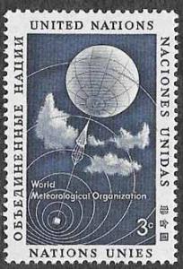 UN New York SC 49 - Weather Balloon  - MNH - 1957