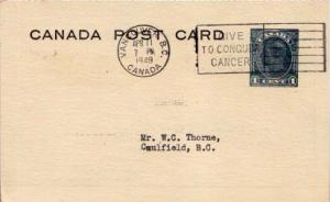 Canada, Canada British Columbia, Government Postal Card, Medical