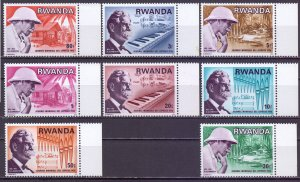 Rwanda. 1976. 775-82. Schweizer medic musician philosopher. MNH.