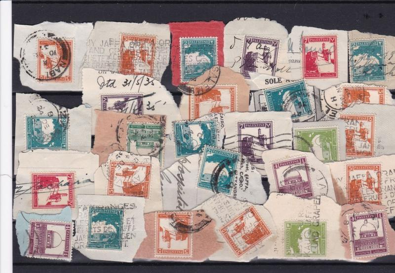 stamps of palestine cancelled on piece ref r12158