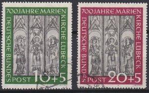 Germany B316-B317 used (1951)