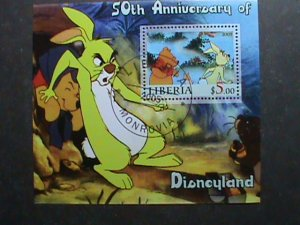 LIBERIA STAMP-2005 -50TH ANNIVERSARY OF DISNEYLAND CTO S/S SHEE