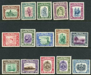 NORTH BORNEO-1939 A lightly mounted mint set to $5 Sg 303-317
