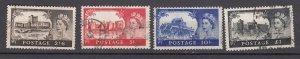 J26577  jlstamps 1959-68 great britain used set #371-4 castles wmk 322