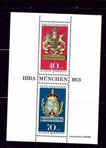 Germany B502 MNH 1973 souvenir sheet