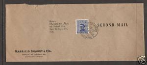 Uruguay Sc 572A on 1954 Second Mail cover to New York, SERVICIO AEREO cancel