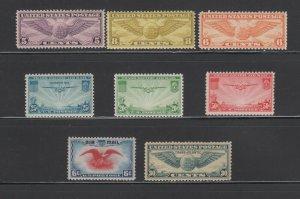 US,C16,C17,C19,C20,C21,C22,C23,C24,MINT NH,VF,1920'S AIRMAIL COLLECTION
