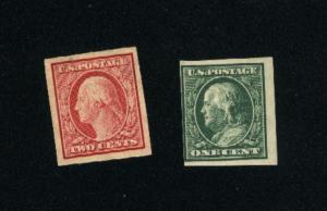 USA #343, 344   Mint 1908-09 PD