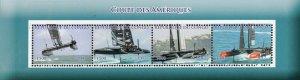Congo 2017 American Cup Sailing Boats Sports 4v Mint Sheet. (#30)