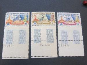 Laos 1964 Sc 89-91 set MNH