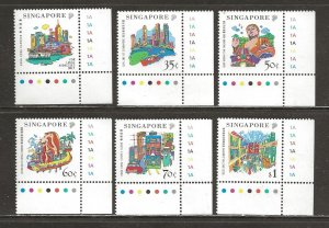 Singapore Scott catalog # 896-901 Mint NH