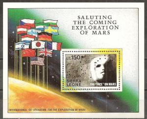 Sierra Leone #1167-71 Face On Mars CV $75.50 (B9337L)