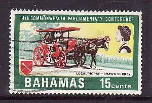 Bahamas-Sc#283- id7-used 15c Horse-drawn Surrey-1968-