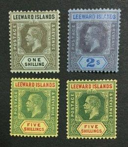 MOMEN: LEEWARD ISLANDS SG # 1912-22 MULT CROWN CA MINT OG H LOT #198624-6172