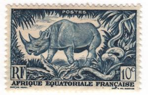 French Equatorial Africa, Scott # 166, MLH