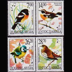 YUGOSLAVIA 2002 - Scott# 2549a-d Birds Set of 4 NH
