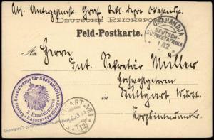 Germany 1906 Okahandja SW Africa Herero Uprising Feldpost DSWA Cover 76069