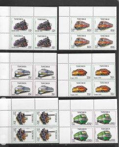 Tanzania 800-6 MNH cpl set  x 5, vf, see desc. 2020 CV $42.50