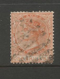 LAGOS  1876-79  1/-   QV  FU  P14  SG 16