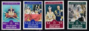 Bangladesh # 145-148, Q E II Coronation Anniv., NH