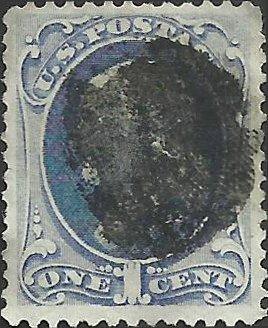 # 182 Dark Ultramarine Used Ben Franklin