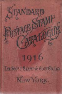 1916 Scott Standard Postage Stamp Catalogue, hardcover, cover stains