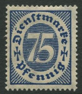GERMANY. - Scott O14 - Officials -1922 - MLH  - Single 75pf Stamp