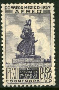 MEXICO C96, $1 PESO Tulsa World Philatelic Convention. UNUSED, H OG. F-VF.
