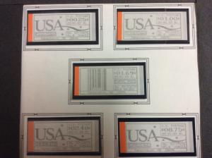 U.S.#CVP16 1st Day Issued 5 stamps 25c-$8.75, MNH.  See descriptions