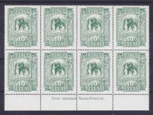 St. Vincent Bft 44 MNH. 1995 10c Revenue, Imprint Block